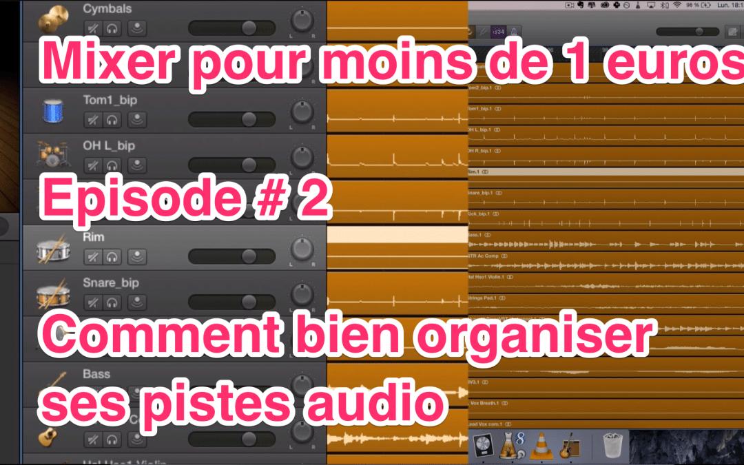 Mixer pour – de 1 euro – Episode #2 – Comment organiser ses pistes pour un mixage