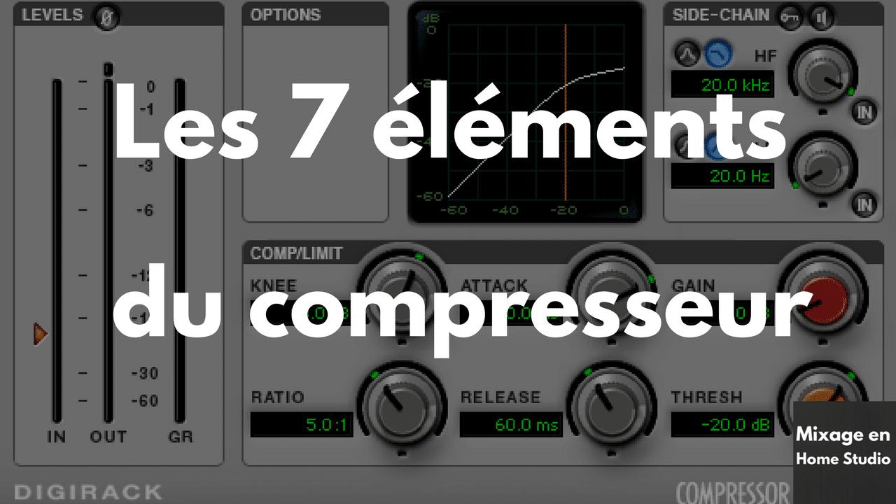 Comment régler un compresseur audio ? Les 7 éléments à connaitre