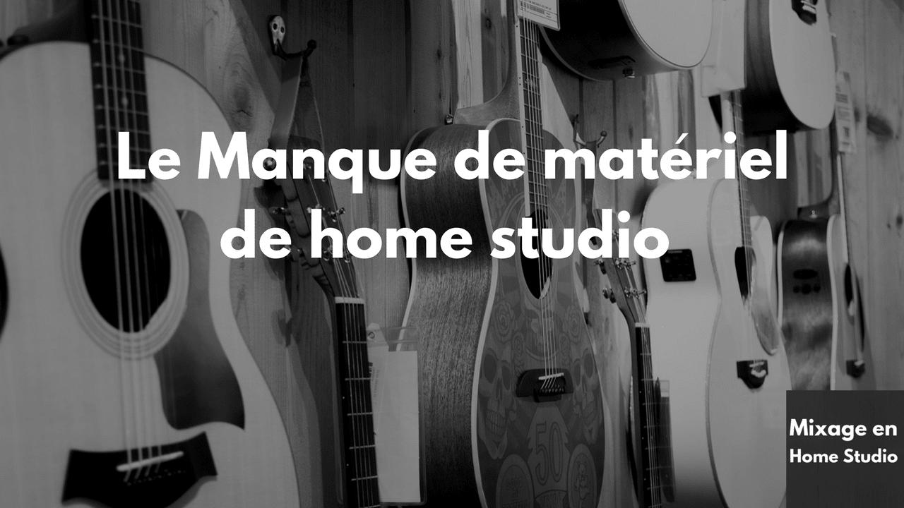 Manque de matériel de home studio dans les magasins de musique